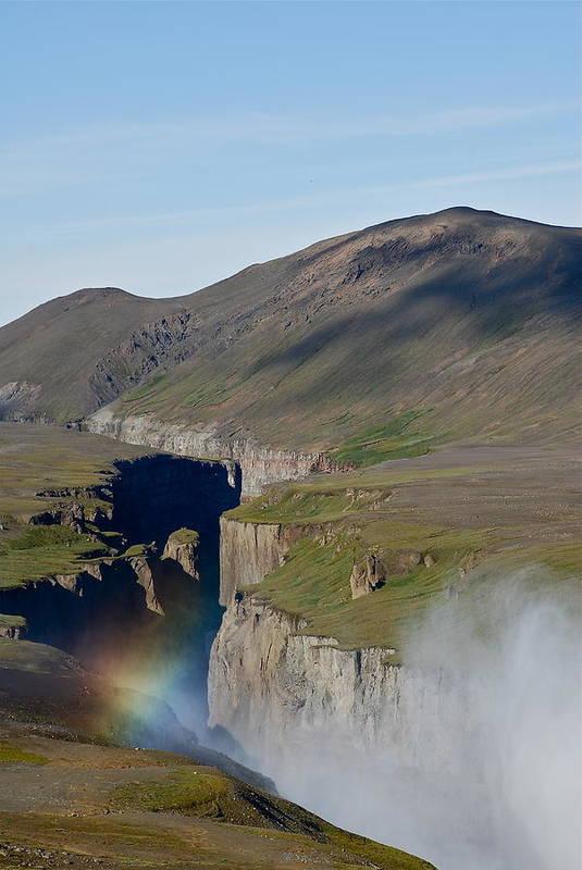 Canyon Art Print featuring the photograph Rainbow by Erlendur Gudmundsson