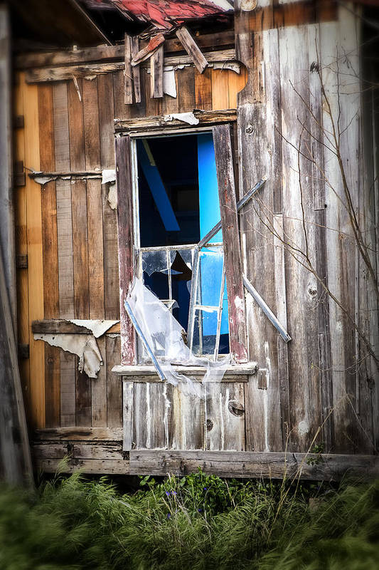 Abandoned Print featuring the photograph Red And White And Blue by Caitlyn Grasso