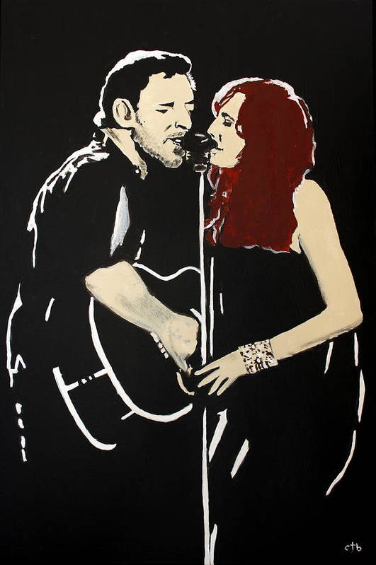 Bruce Springsteen Art Print featuring the painting Red Headed Woman by Carmencita Balagtas
