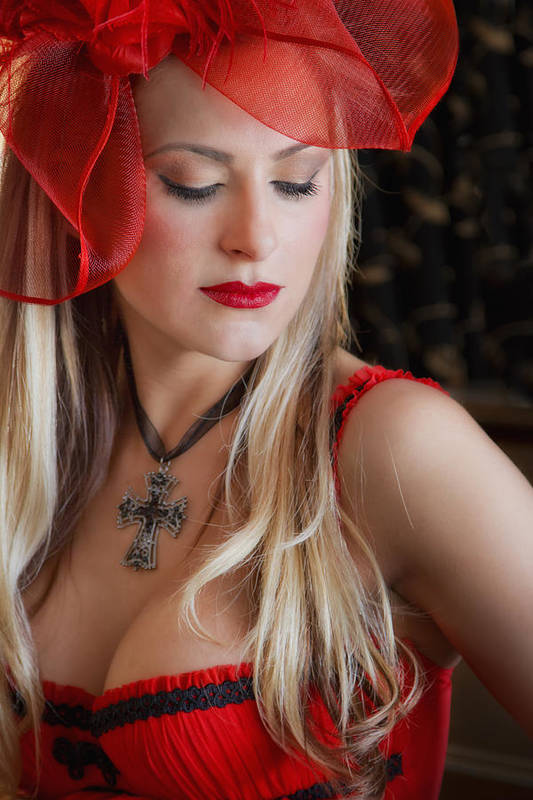 Model Print featuring the photograph Red Hot by Evelina Kremsdorf