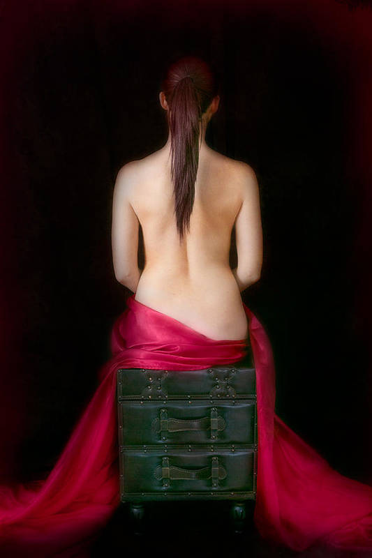 Red Art Print featuring the photograph Red Sensuality by Elvira Pinkhas