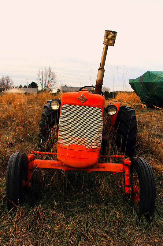 Tractor Art Print featuring the photograph Red Tractor 2 by Jim Vance