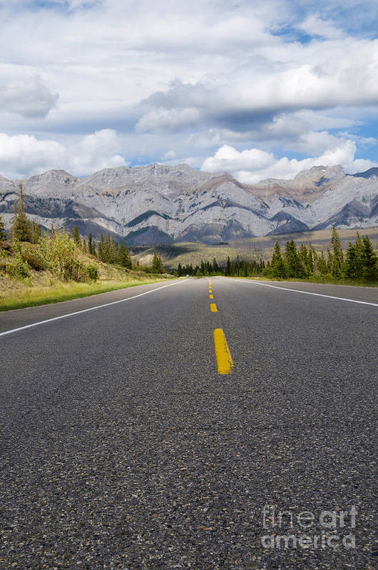 Adventure Art Print featuring the photograph Road To The Mountains by Gord Horne