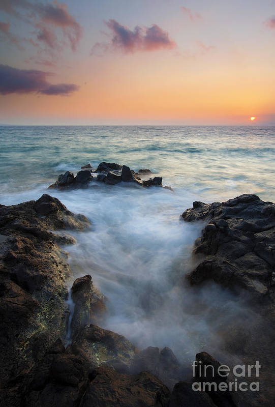 Inlet Art Print featuring the photograph Rocky Inlet Sunset by Mike Dawson