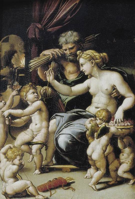 Vertical Art Print featuring the photograph Romano, Giulio, Workshop Of. Venus by Everett