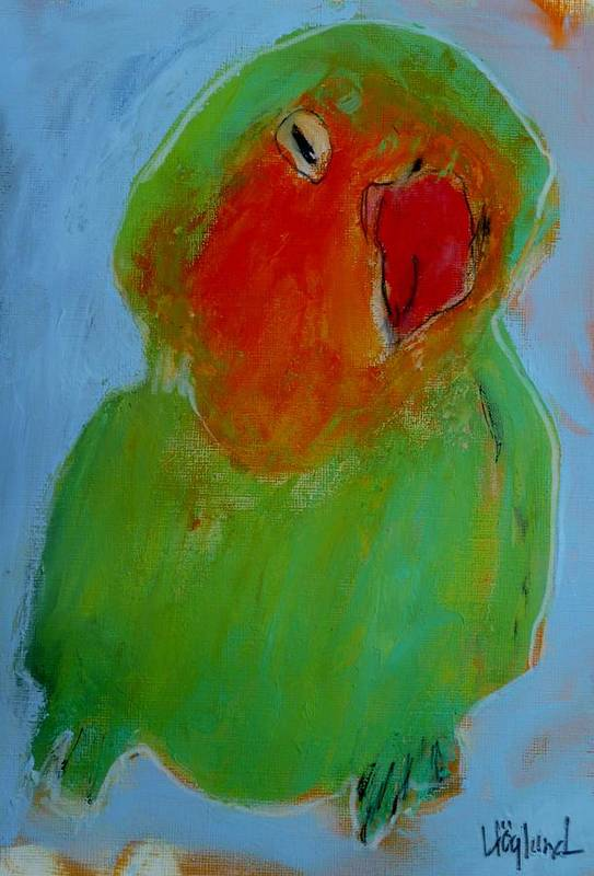 Parrot Art Print featuring the painting Ross by Dan Hoglund
