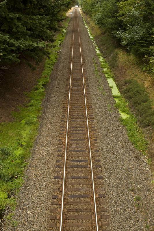 Railroad Art Print featuring the photograph Rr Track Wa 1 by John Brueske