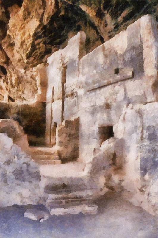 Indian Art Print featuring the photograph Ruins by Michelle Calkins