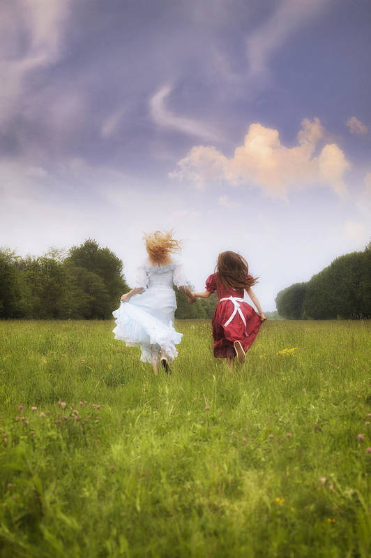 Girl Art Print featuring the photograph Running by Joana Kruse