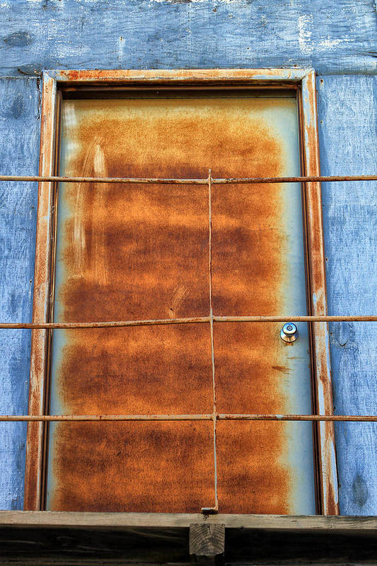 Rustic Art Print featuring the photograph Rusty Blues by Tera Bunney