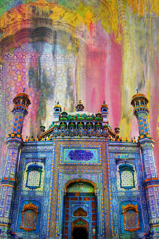 Pakistan Art Print featuring the painting Sachal Sarmast Tomb by Catf