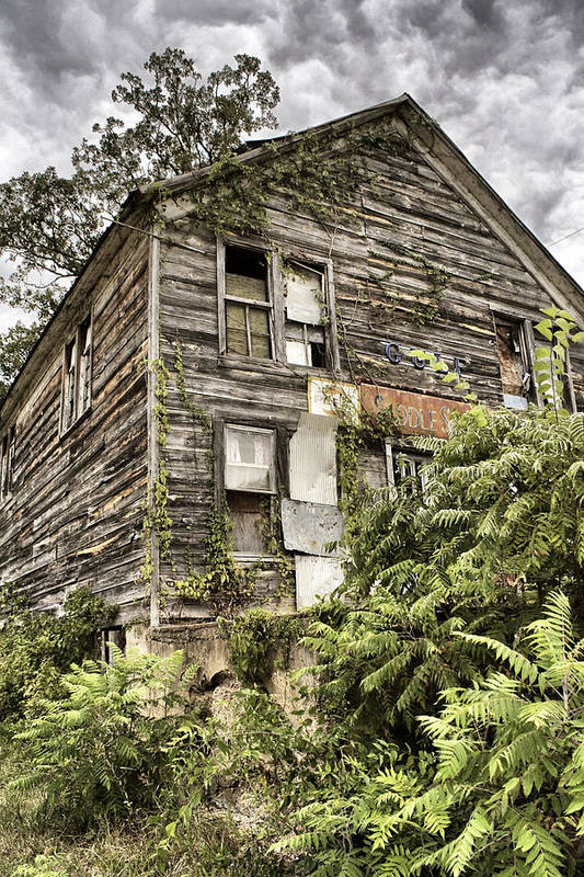 Rustic Art Print featuring the photograph Saddle Store 2 Of 3 by Jason Politte