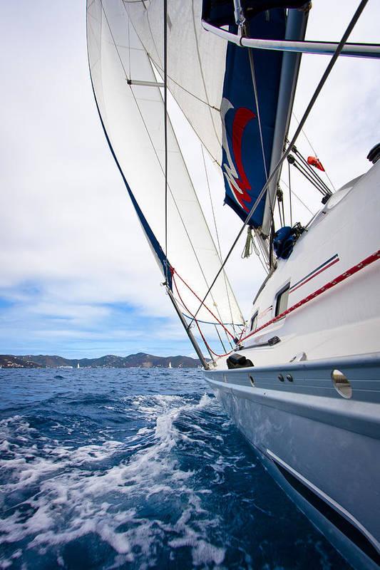 3scape Photos Art Print featuring the photograph Sailing Bvi by Adam Romanowicz