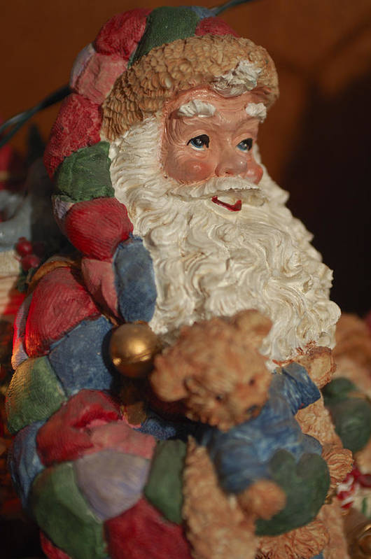 Santa Claus Art Print featuring the photograph Santa Claus - Antique Ornament - 03 by Jill Reger