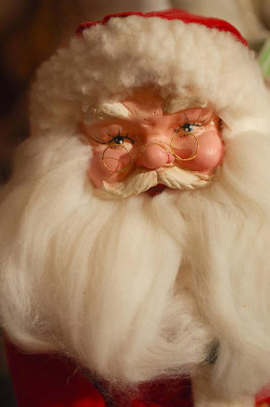 Santa Claus Print featuring the photograph Santa Claus - Antique Ornament - 14 by Jill Reger