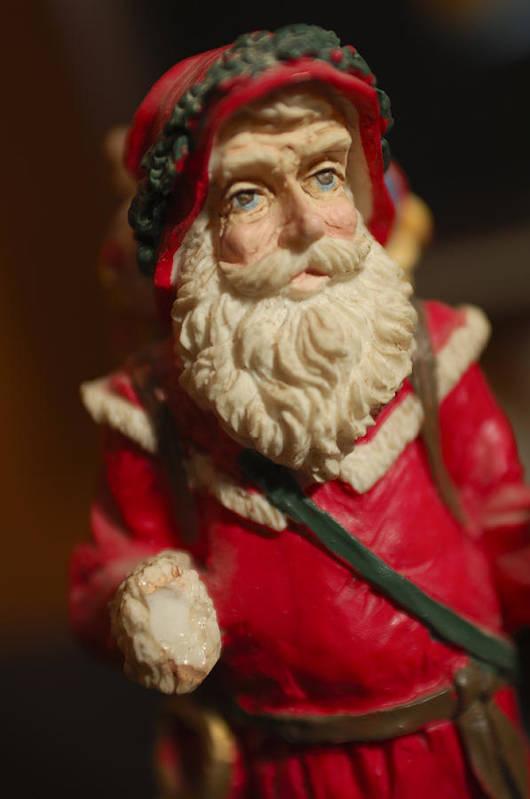 Santa Claus Art Print featuring the photograph Santa Claus - Antique Ornament - 21 by Jill Reger