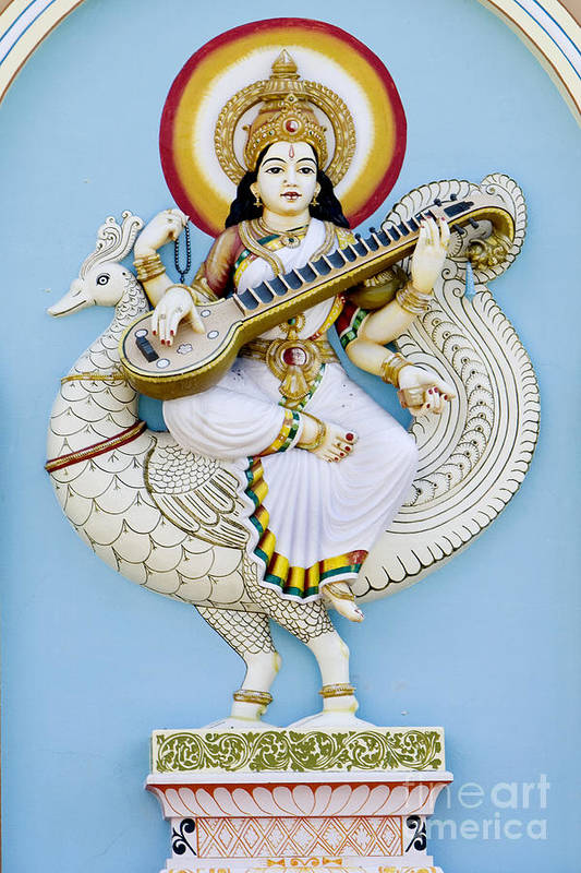 Saraswati Art Print featuring the photograph Saraswati by Tim Gainey