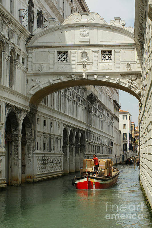 Serenissima Art Print featuring the photograph Sento Un Sospiro by Carol Weitz