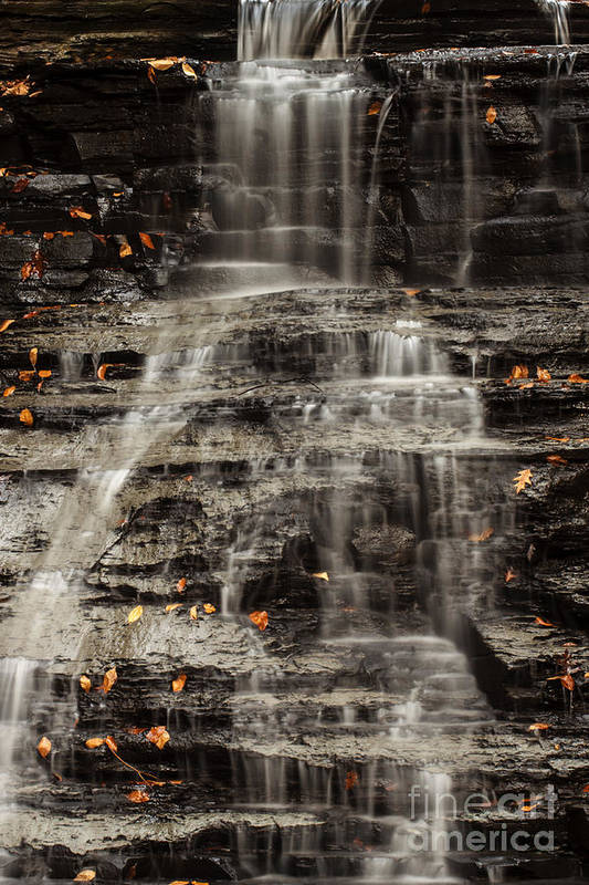 Waterfall Art Print featuring the photograph Shale Waterfalls Cascade by Darleen Stry