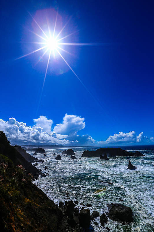 Pacific Ocean Art Print featuring the photograph Shine On by Preston Fiorletta