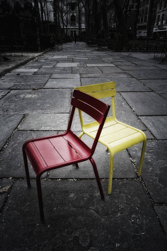 Chair Art Print featuring the photograph Side By Side by Russell Styles