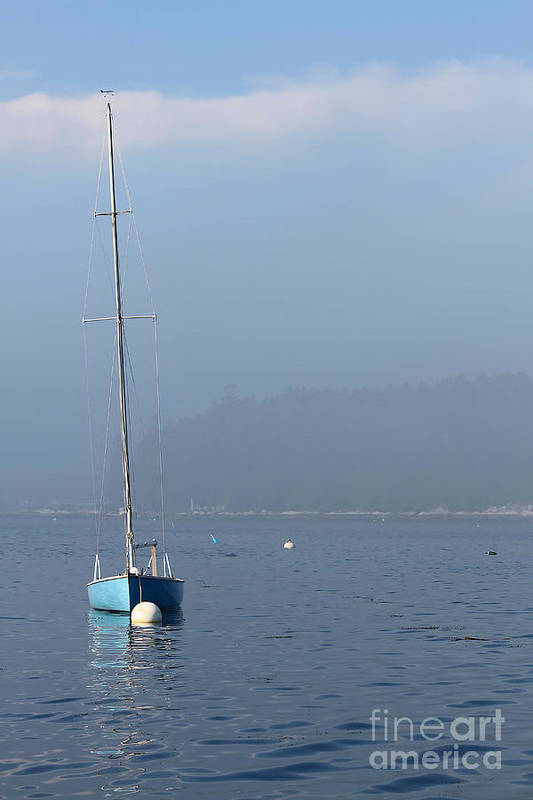 Sailboat Art Print featuring the photograph Sill Boat In Maine by Heidi Piccerelli