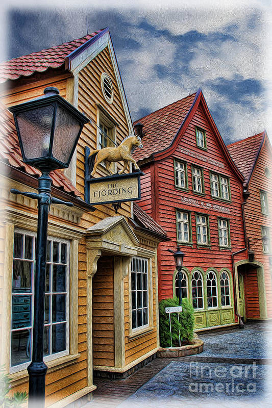 Small Town Merchants Art Print featuring the photograph Small Town Merchants II by Lee Dos Santos