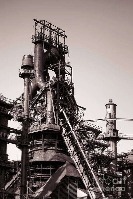 Bethlehem Art Print featuring the photograph Smelting Furnace by Olivier Le Queinec