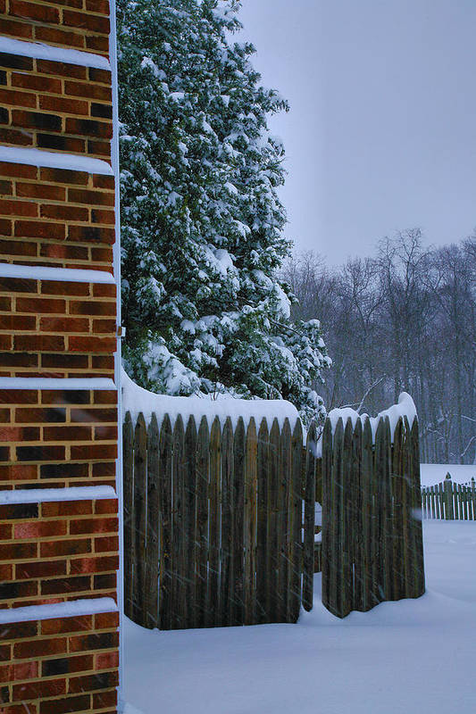 Snow Art Print featuring the photograph Snowy Corner by Steven Ainsworth