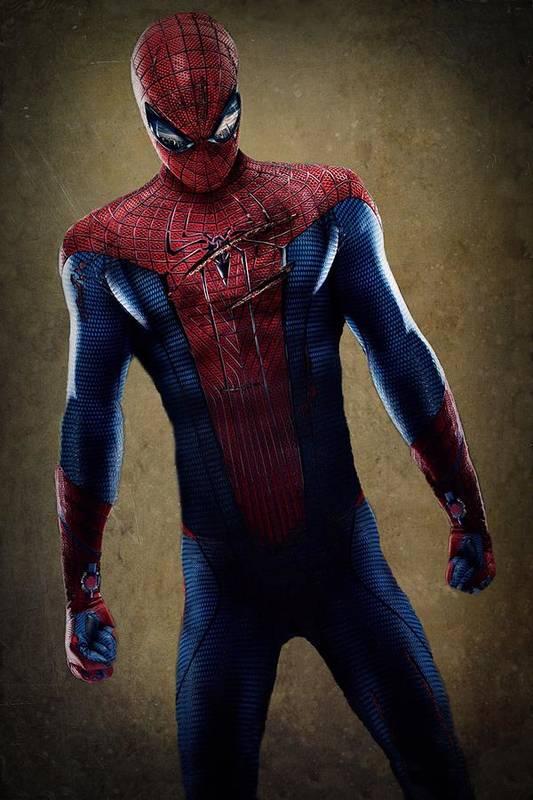Spider-man Art Print featuring the digital art Spider-man 2.1 by Movie Poster Prints