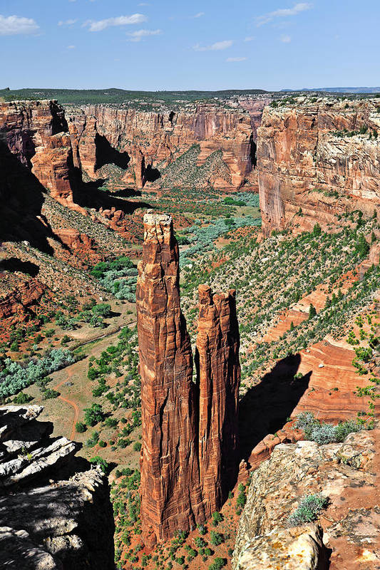 Canyon Art Print featuring the photograph Spider Rock Canyon De Chelly by Christine Till