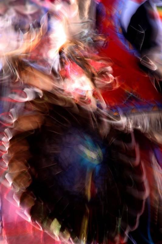 Pow Wow Art Print featuring the photograph Spirits 5 by Joe Kozlowski