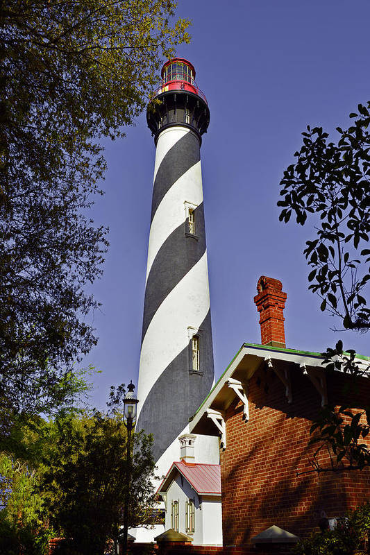 St Art Print featuring the photograph St Augustine Lighthouse - Old Florida Charm by Christine Till