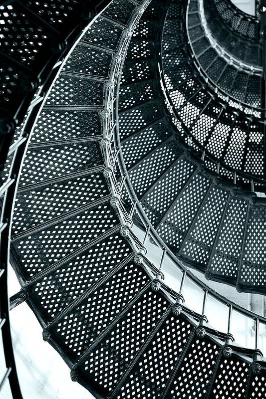 Saint Art Print featuring the photograph St Augustine Lighthouse Staircase by Christine Till
