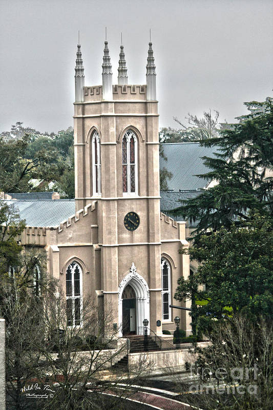 St. James Art Print featuring the photograph St. James Episcopal Church Wilmington North Carolina by Marie Kirschner