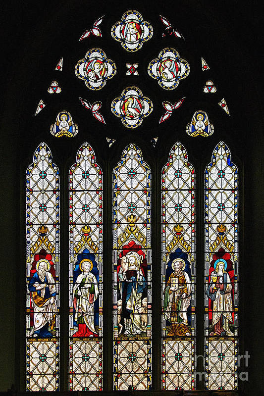 St Margaret's Church Art Print featuring the photograph Stained-glass Window 1 by Susie Peek