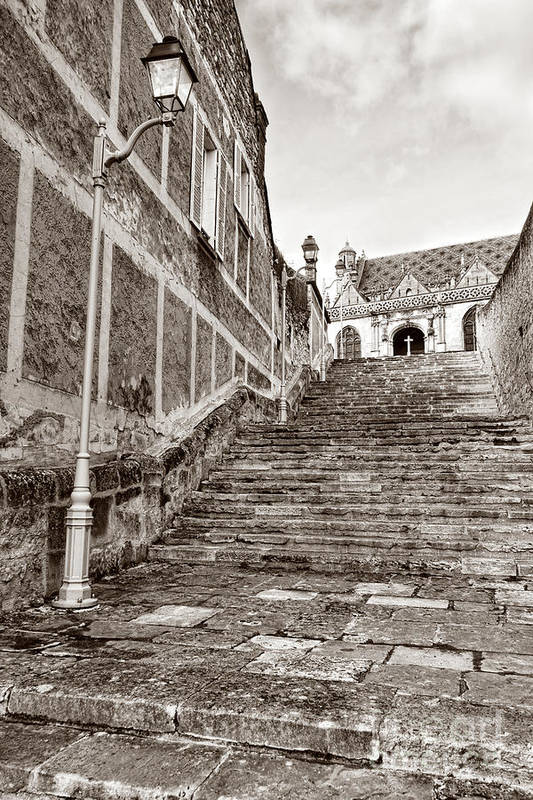 Old Art Print featuring the photograph Stairway To Salvation by Olivier Le Queinec