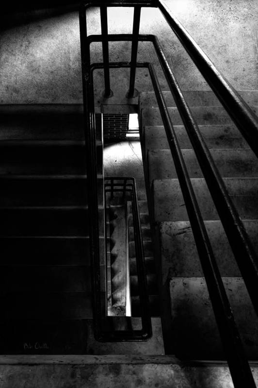 Steps Print featuring the photograph Stairwell by Bob Orsillo