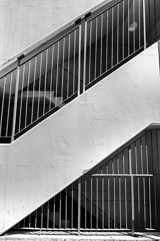 Bars Art Print featuring the photograph Stairwell by Trever Miller
