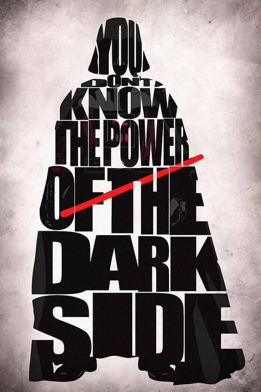 Darth Vader Art Print featuring the digital art Star Wars Inspired Darth Vader Artwork by Inspirowl Design