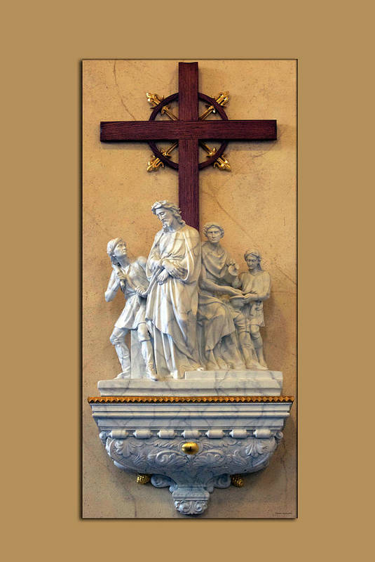 Statue Art Print featuring the photograph Station Of The Cross 01 by Thomas Woolworth