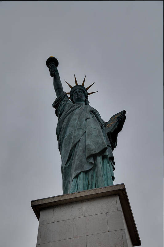 Aod Art Print featuring the photograph Statue Of Liberty - Paris France - 01131 by DC Photographer