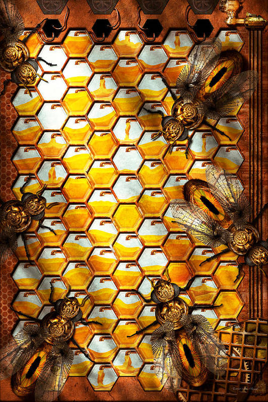 Steampunk Apiary The Hive Art Print By Mike Savad
