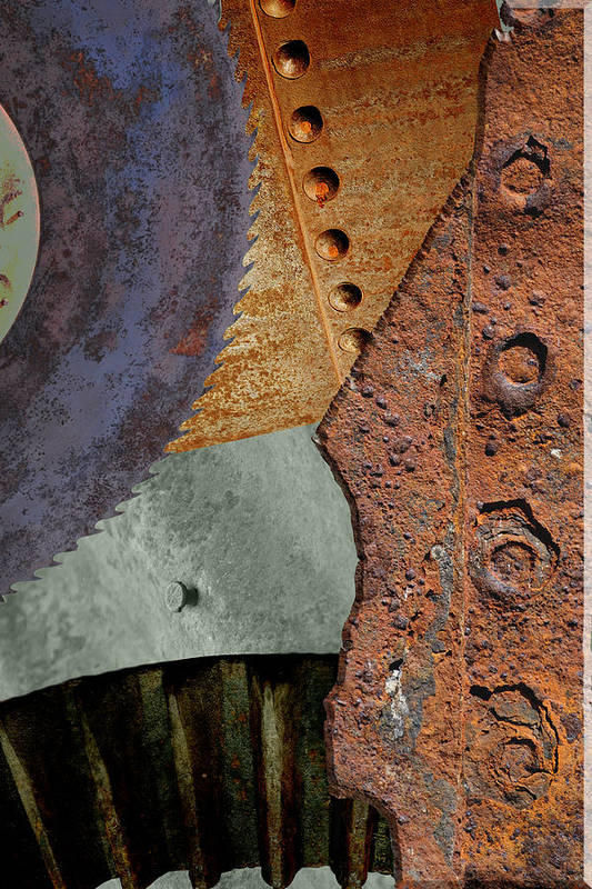 Iron Art Print featuring the photograph Steel Collage by Fran Riley