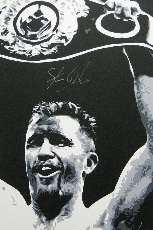 Steve Collins Art Print featuring the painting Steve Collins 4 by Geo Thomson