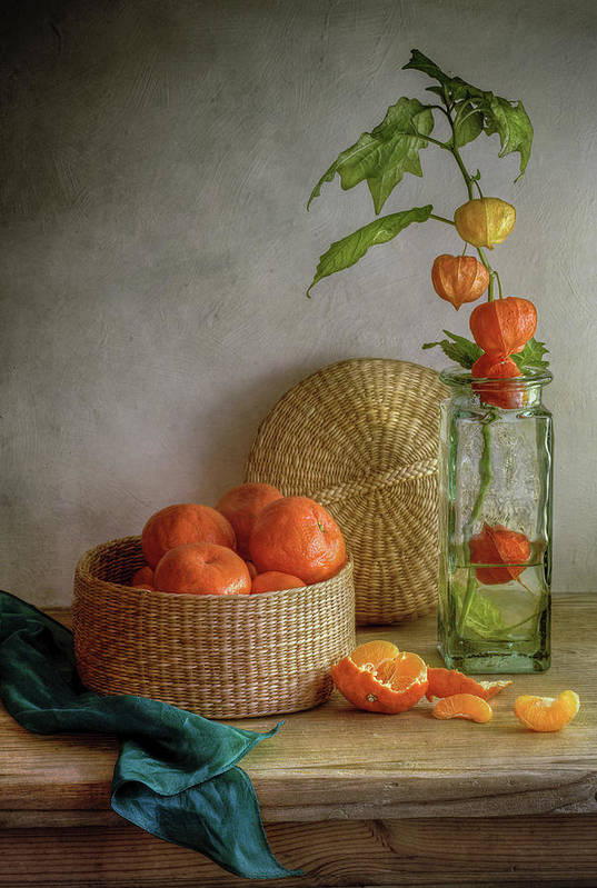 Oranges Art Print featuring the photograph Still Life With Clementines by Mandy Disher