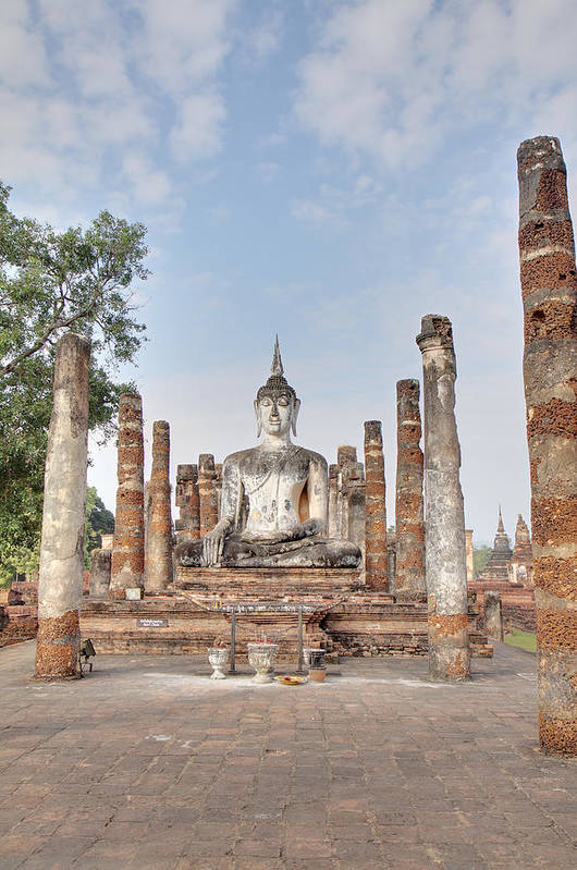 Sukhothai Art Print featuring the photograph Sukhothai Historical Park - Sukhothai Thailand - 011331 by DC Photographer