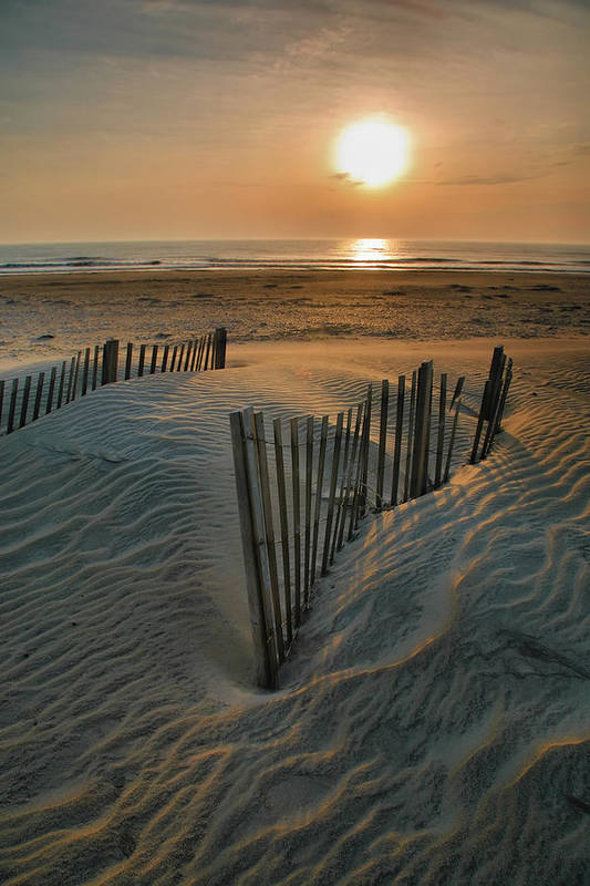 Outer Banks Prints Art Print featuring the photograph Sunrise Over Hatteras by Steven Ainsworth