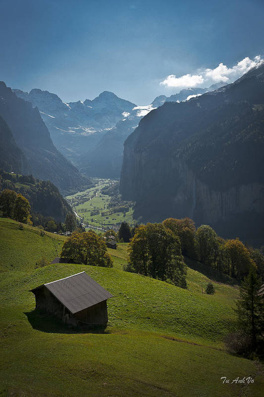 Landscapes Art Print featuring the photograph Switzerland by An Vo