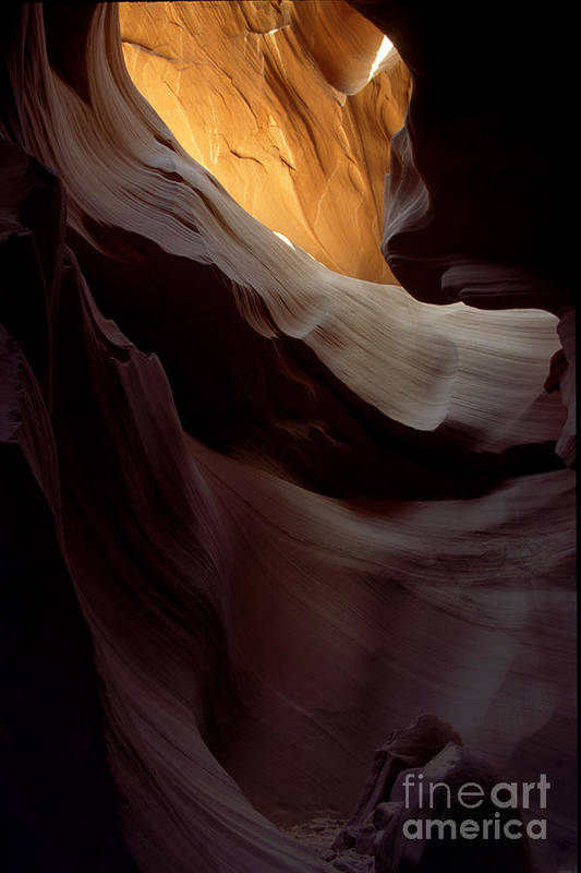 Slot Canyons Art Print featuring the photograph Swopes by Kathy McClure